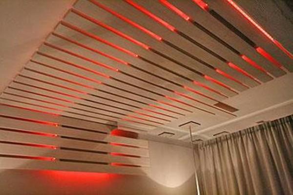 деревянный потолок, реечный