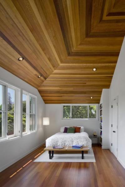 деревянный Потолок из профилированной доски 3D.