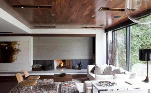 деревянный Потолок по принципу Паркетной доски.