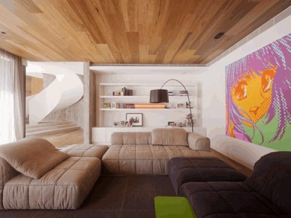 деревянный потолок, подвесной