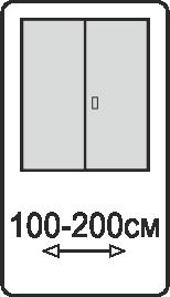 Ширина двупольных полотен 100-200 см.