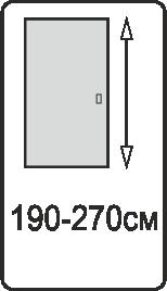 Высота полотна 190-270 см.