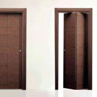 дверь-книжка, симметричная, гладкая, шпонированная