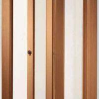 дверь-книжка, симметричная, с прозрачным стеклом