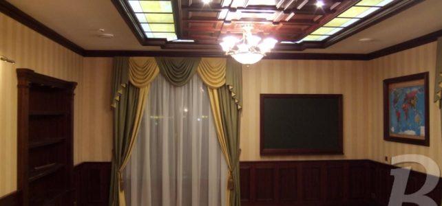 Деревянный Кессонный потолок и стеновые панели на заказ