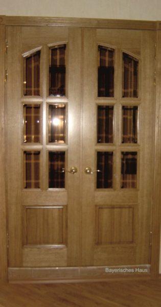 Частный заказ межкомнатная дверь с бронзовым стеклом