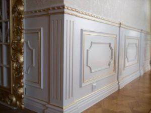 Стеновые панели Буазери с каннелюрами и патиной