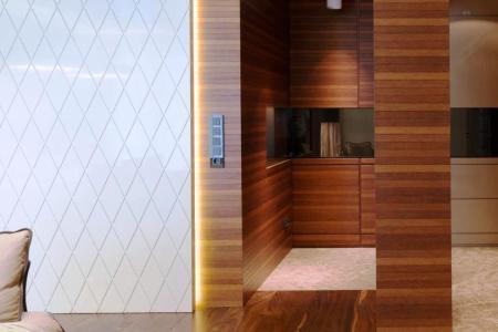 Отделка колонны и стен реечными панелями