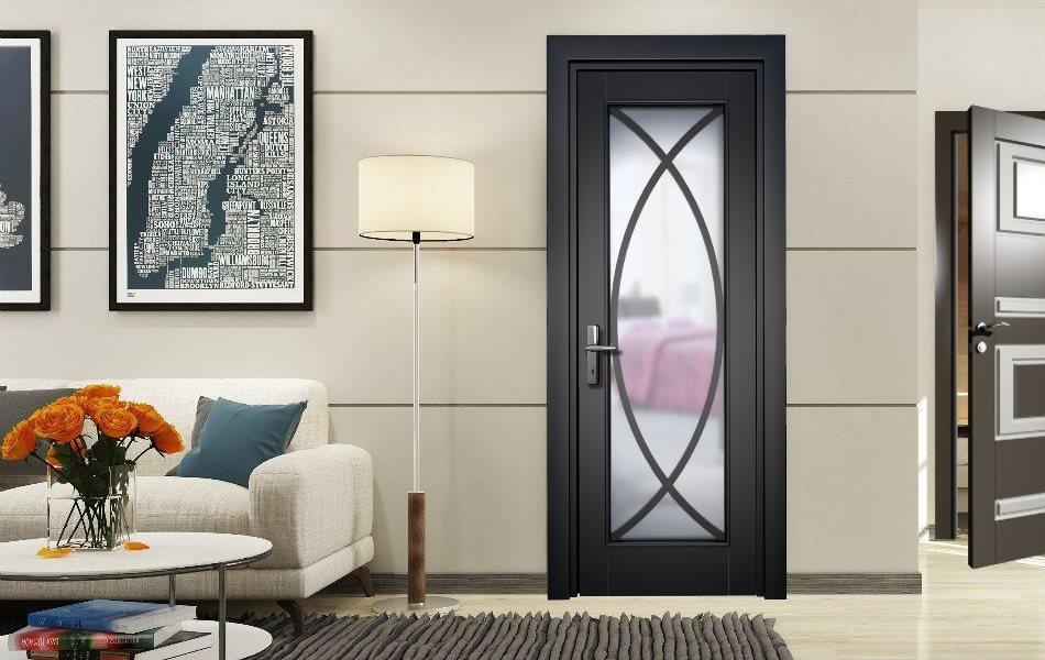 Межкомнатная дверь Mark1 в интерьере