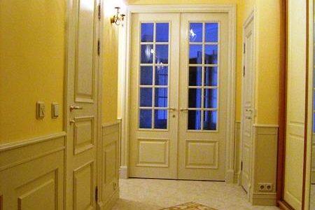 Межкомнатные двери в эмали из дуба для коттеджа, модели О2 и i