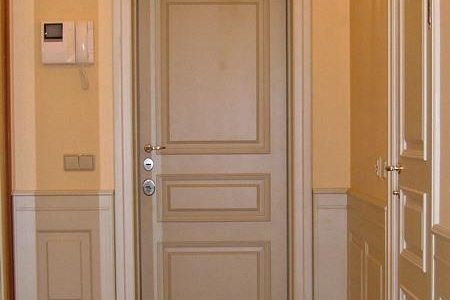 Входная дверь из дуба для коттеджа, модель «О2» из каталога «Эмаль»